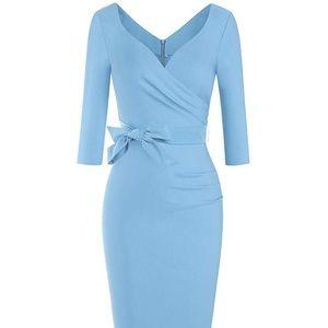 Vintage Style Baby Blue Dress